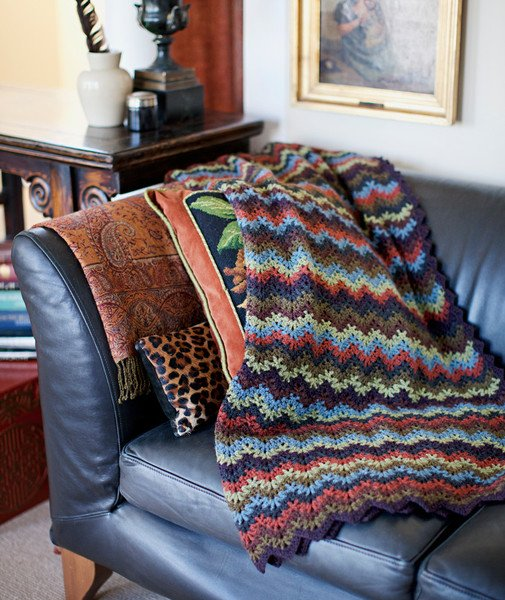 churchmouse vintage crochet throw & afghan