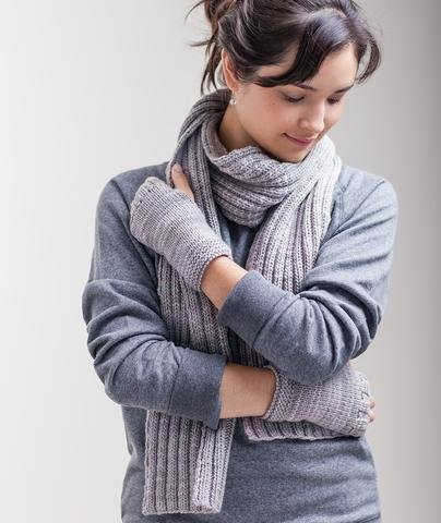churchmouse classroom: stitch-sampler handwarmers & ribbed scarf