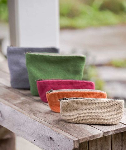churchmouse oval crocheted bucket bags & pouches
