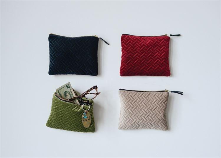 velvet notions pouch