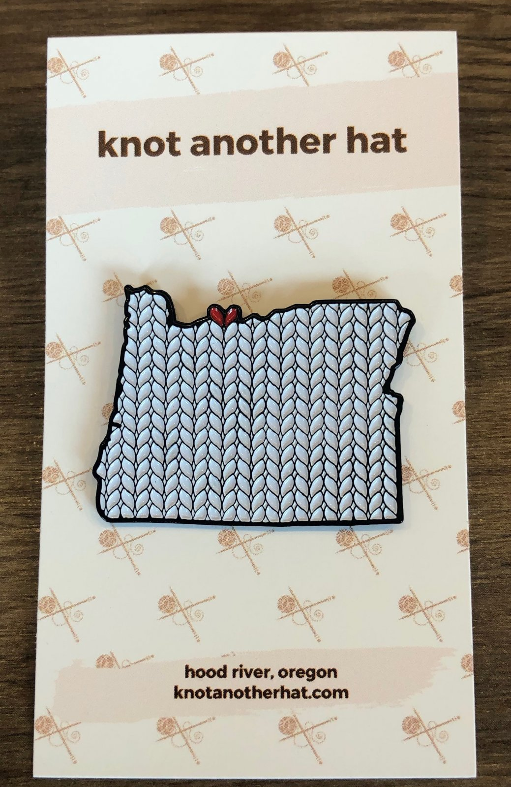 knot another hat enamel pin