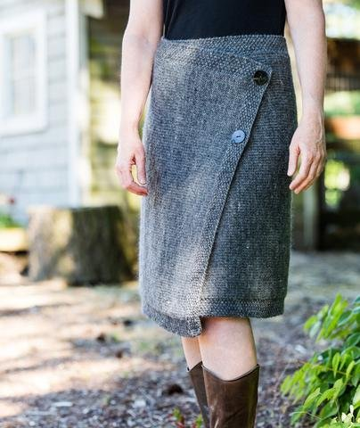 churchmouse classics buttoned wrapped skirt