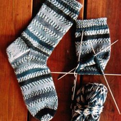knitting pure & simple #242 beginner's midweight sock