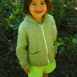 knitting pure & simple #249 child's bulky jacket