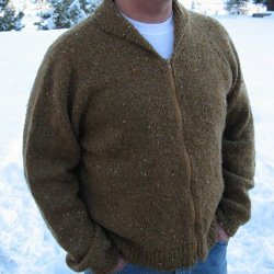knitting pure & simple #264 cardigan for men