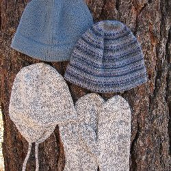 knitting pure & simple #273 men's hat & mittens