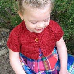 knitting pure & simple #288 little girl's shrug
