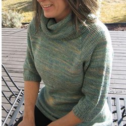 knitting pure & simple #291 neckdown cowl collar
