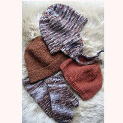 knitting pure & simple #297 bulky hat & mittens