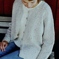 knitting pure & Simple #994 v-neck cardigan for women
