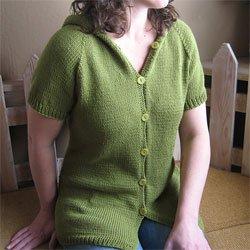knitting pure & simple #102 short sleeved hoodie