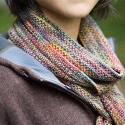 churchmouse koigu linen stitch scarf
