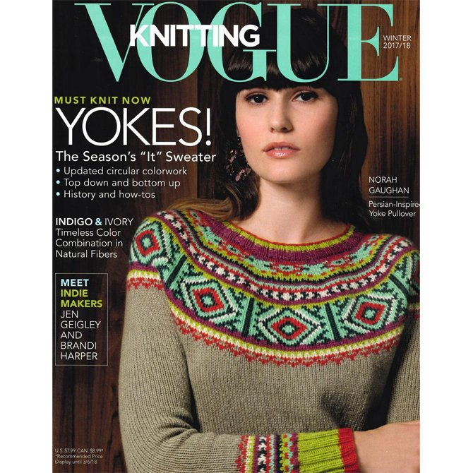 vogue knitting, winter 2017/18