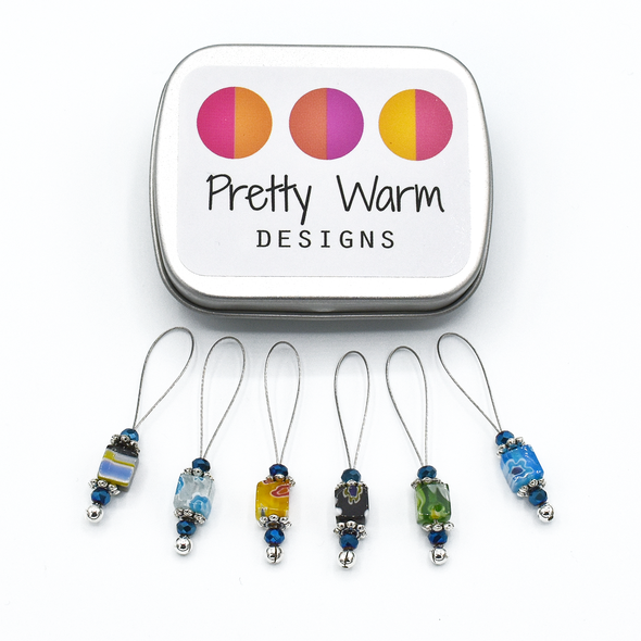 pretty warm stitch markers