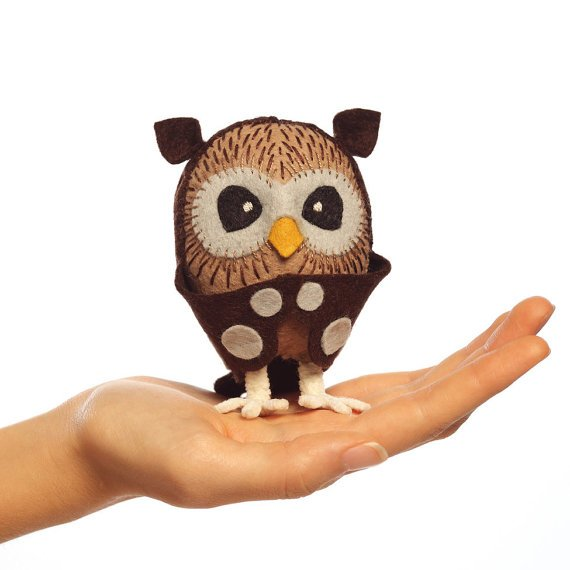 little owl hand-stitching kit