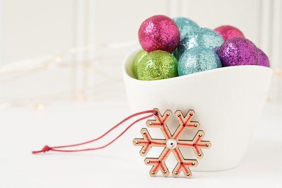 red gate stitchery mini snowflake kit