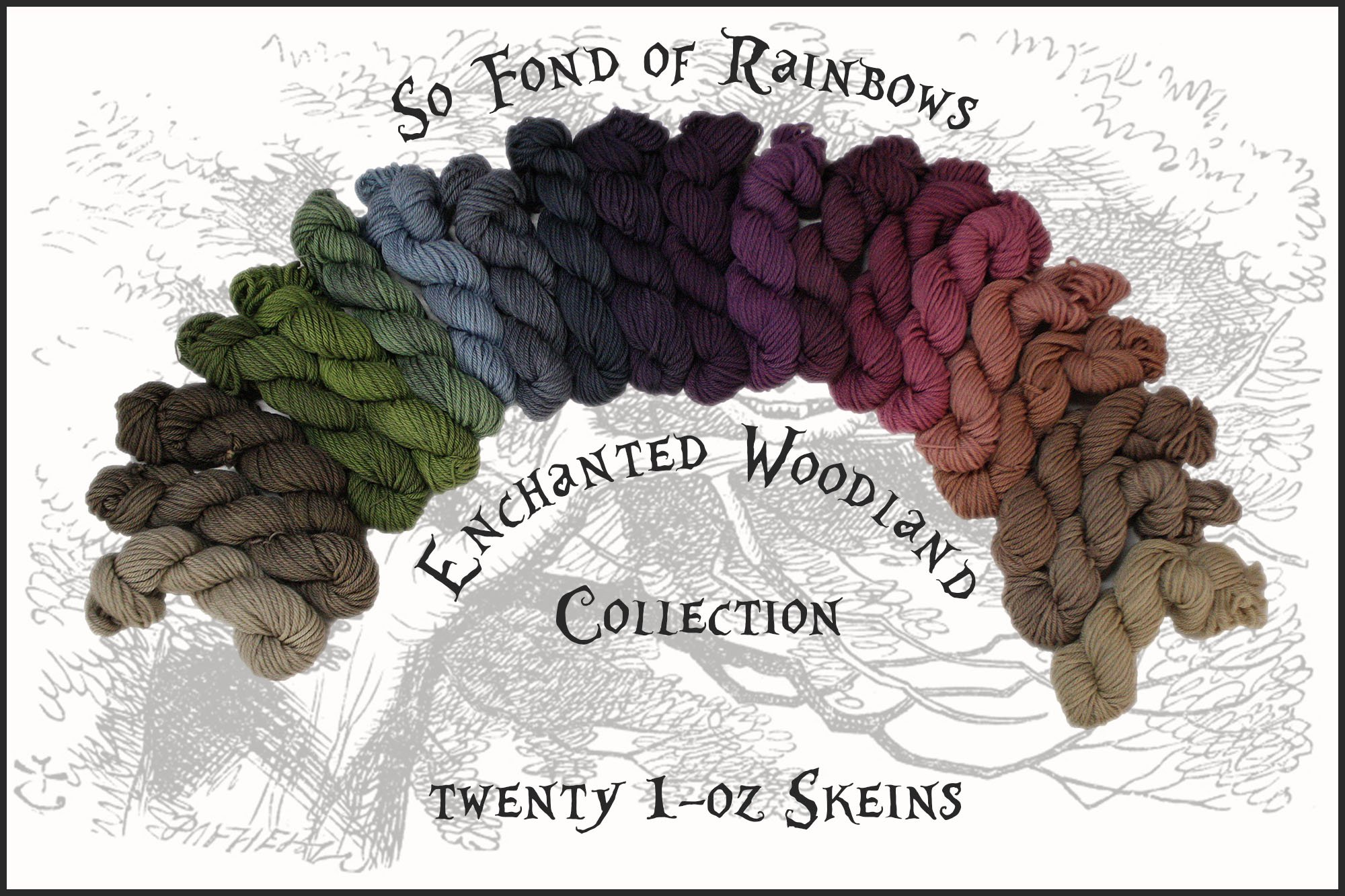 wonderland yarns so fond of rainbows  - worsted