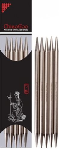 chiaogoo stainless steel double-pointed needles