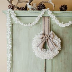 churchmouse woolly wreath & garland