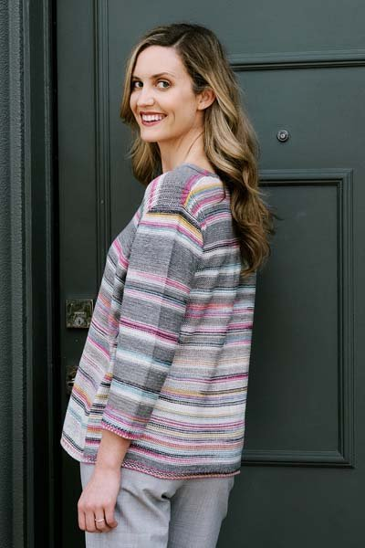Merengue Rib V-neck Swing Pullover