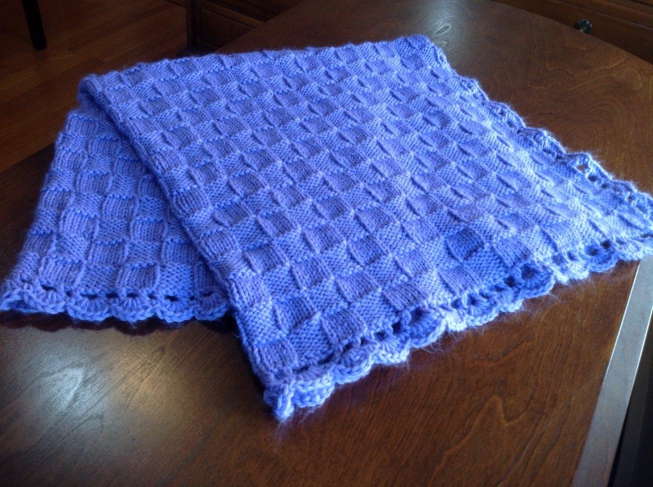 Class Basketweave Baby Blanket