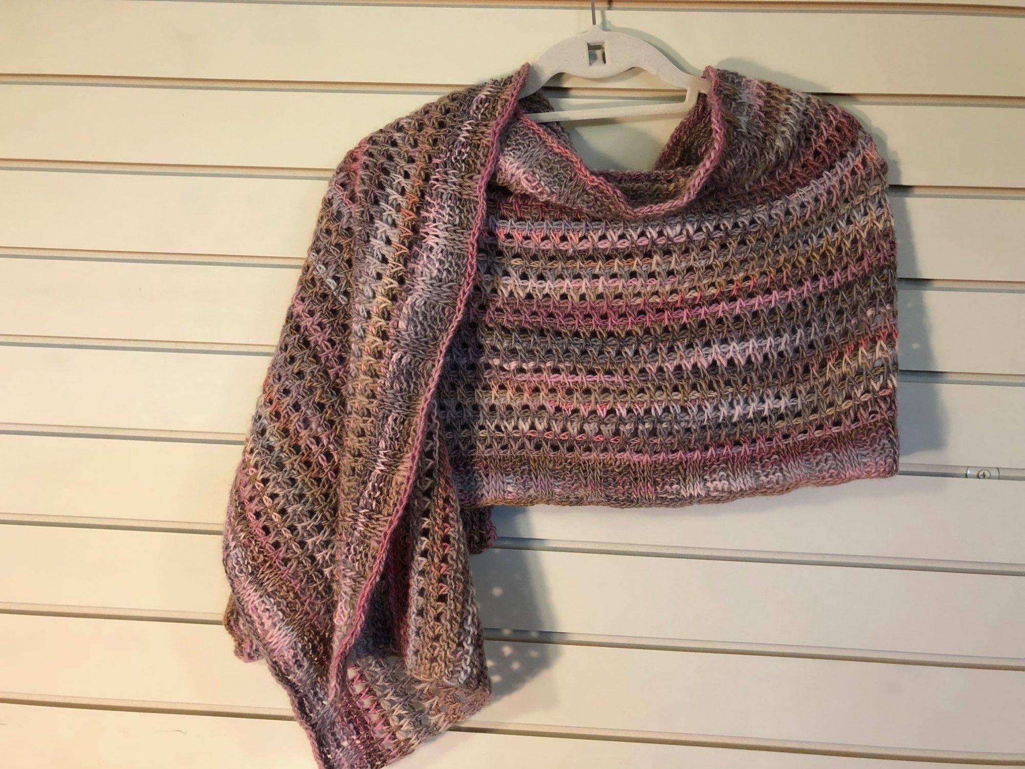 Lacy Tunisian Shawl (Crochet)