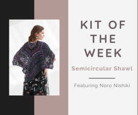Semicircular Shawl Kit Noro Nishiki Knitting Fever Drop Ship Kit