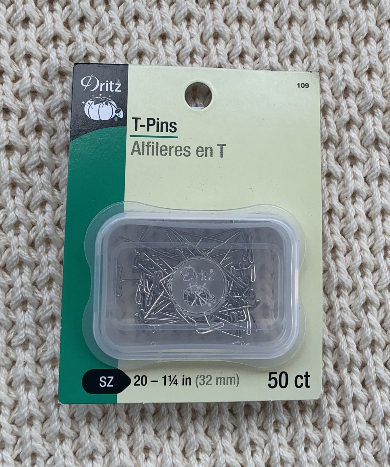 Dritz 50-count T-pins