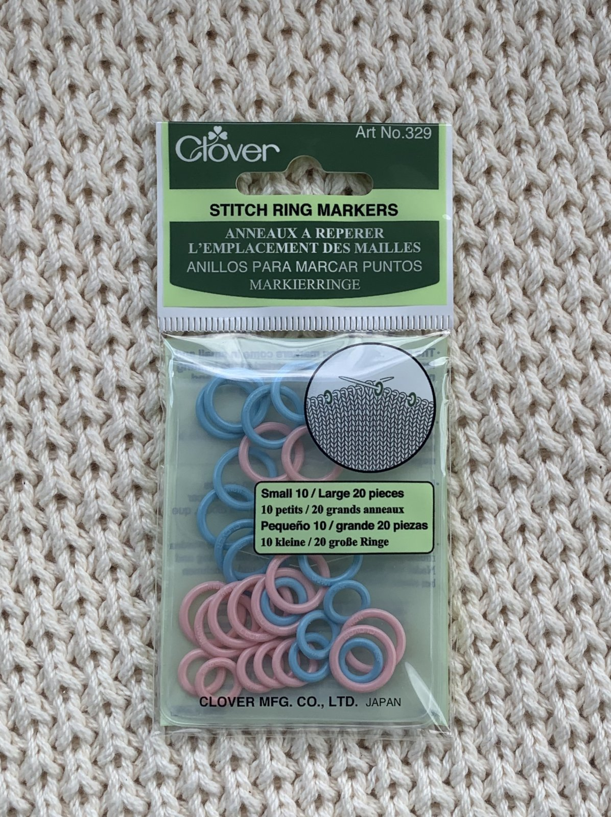 Clover Stitch Marker Rings 329