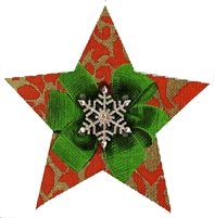 LANI/112A Red & Gold Bling Star