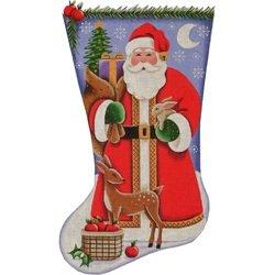 RWD/1331A Woodland Santa Stocking - 13M