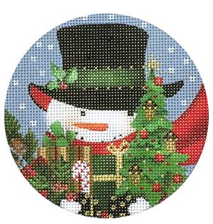 MSD/2040 Acorn Snowman Ornament