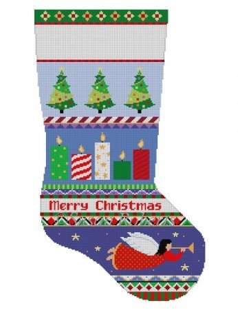 SR/3241 Bold Stripe Candles Stocking
