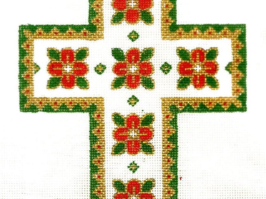 FDP/544JH Cross w/ Red Flower