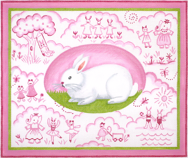 KDN/KRPL08 Bunny Toile - Pinks