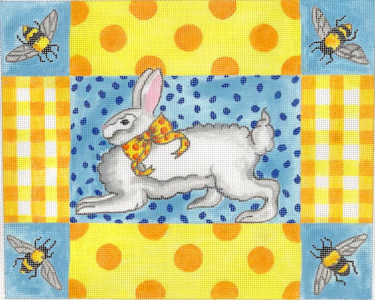 KDN/KRPL10 Running Bunny w Bees Gingham & Polk Dots