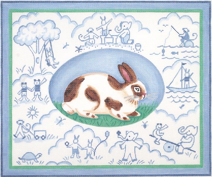 KDN/KRPL09 Bunny Toile - Blues