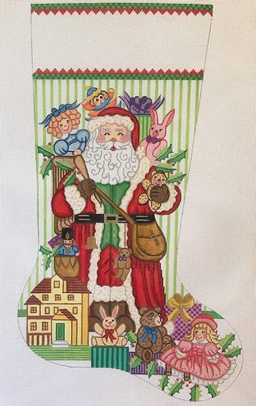 ALEXA/CS7321 Santa w/ Toys for Girls Stocking