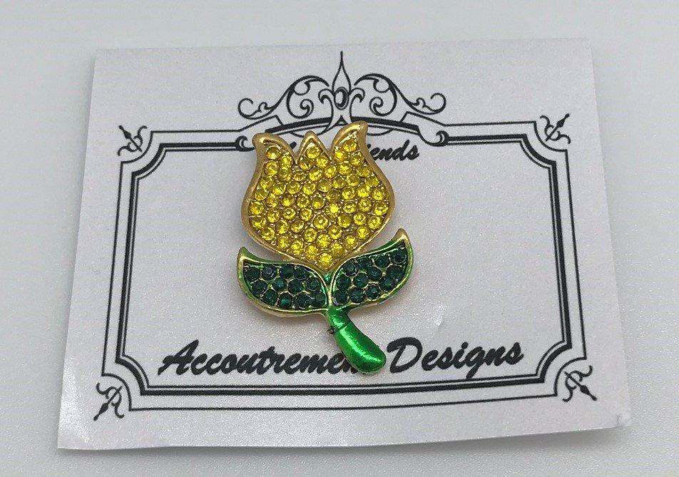 AD/FL001 Yellow Tulip Magnet