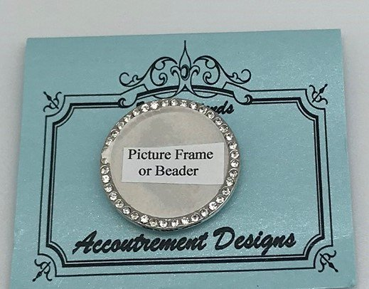 AD/PF001 Round Picture Frame/Beader Magnet