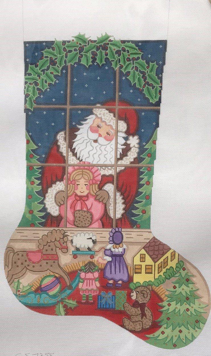 Alexa/CS7355 Santa in the Window w Little Girl