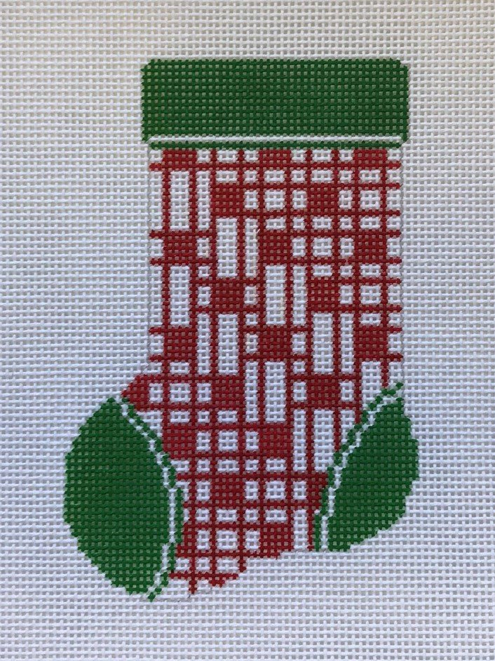 ASIT/103 Red & White Block Mini Stocking
