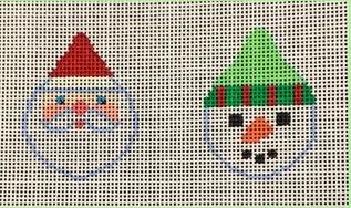 BSD/B502 Santa/Snowman Faces Red/Green