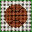 CN/B5 Basketball Beginner Needlepoint Kit for Ages 7+