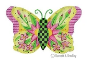 BB/3150 Butterfly - Yellow w Pink Flowers