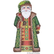 BB/6007 Large Santa - Dark Green Coat Holding Stars  KIT #1
