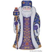 BB/6009 Large Santa - Blue & Purple Coat Holding Staff Kit #5
