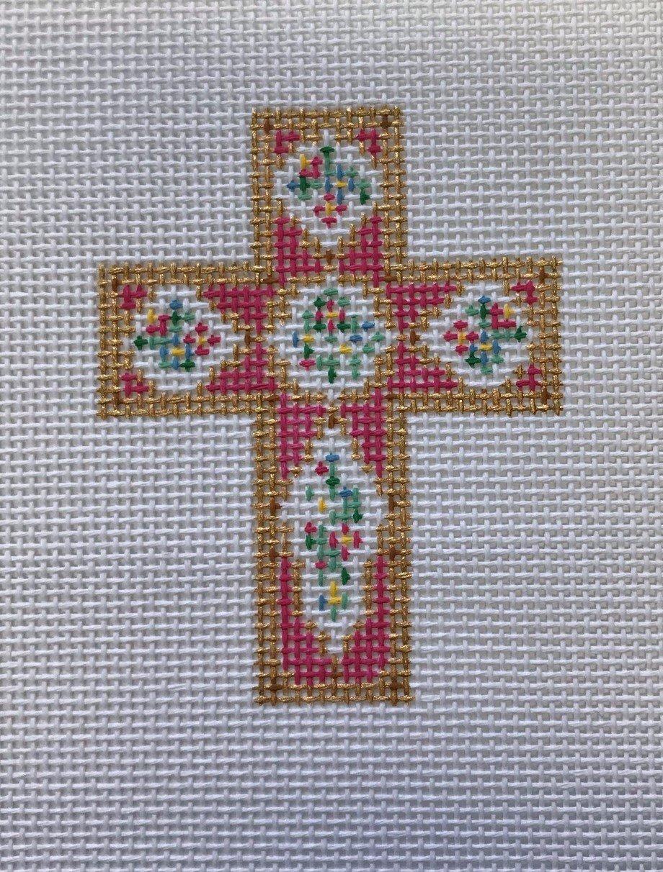 CC/DW1700 Rose Porcelain Cross