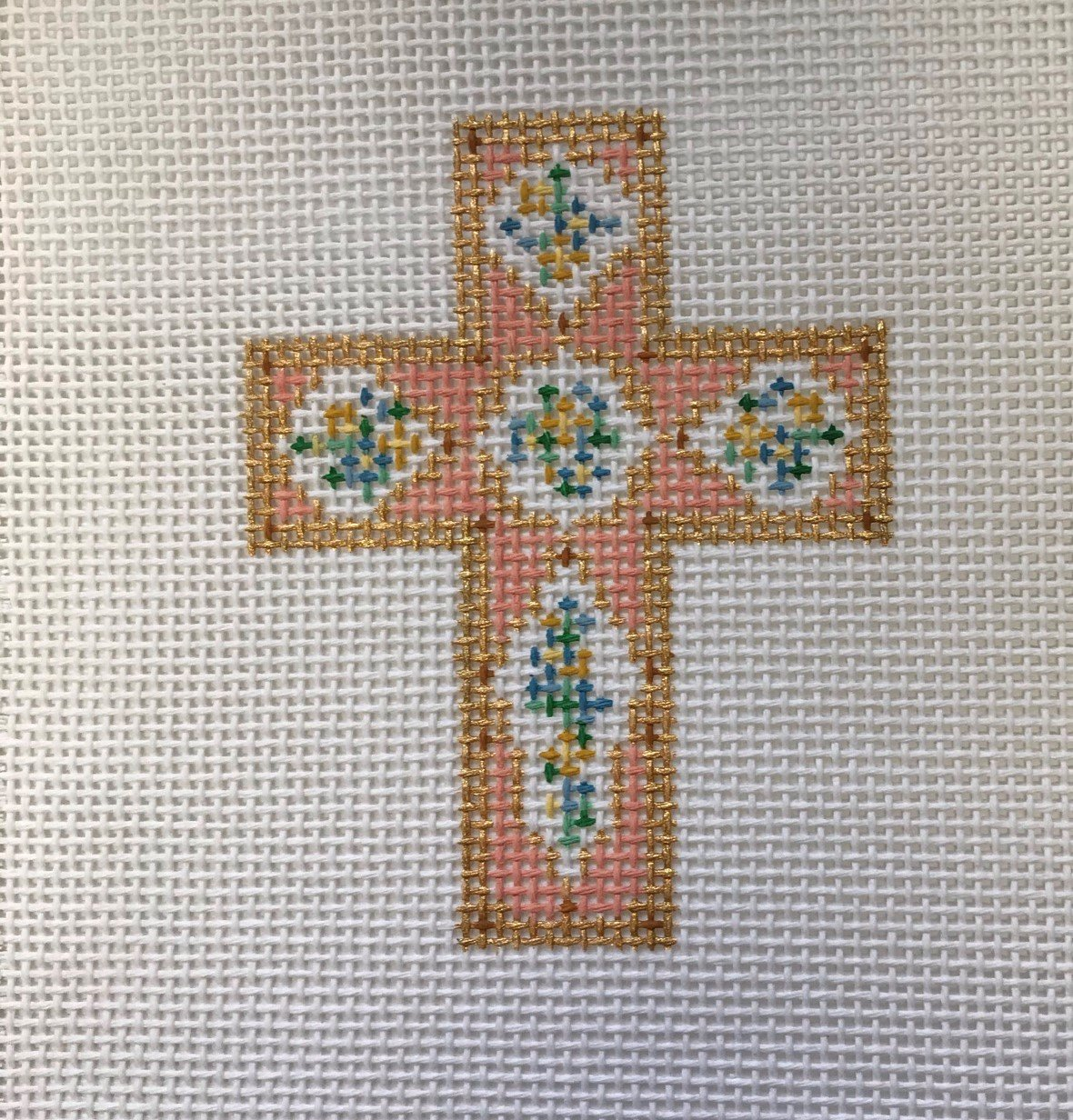CC/DW1702 Peach Porcelain Cross