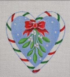 PBD/CCH01 Candy Cane Heart, Mistletoe